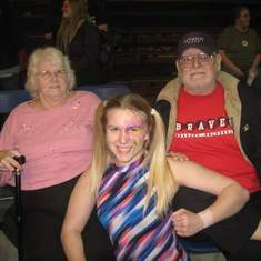 At Bree's(granddaughter) wrestling show