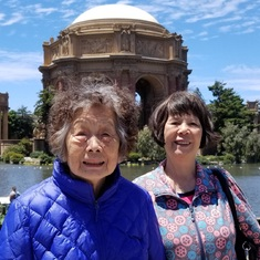 Huang Yee became a Christian shortly after starting to care for Mom. July 7, 2018 SF Palace of Fine Arts