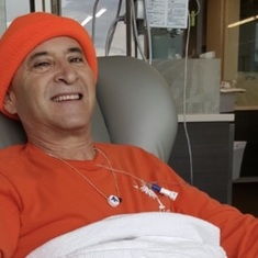 With a smile he started his fight with cancer