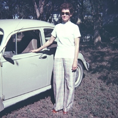 Mom and the VW.