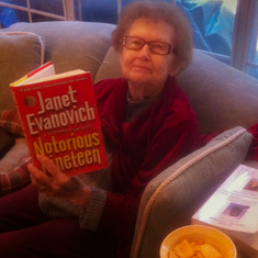 Mom could go through books and cookies at an astonishing rate!