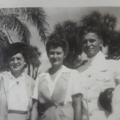 Lora Durrant, Mom, Dad Flight School Graduation Florida 1945