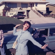 Love this pic of mum ... a moment of spontaneous playfulness!