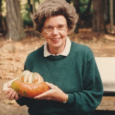 Woman with Turban Pumpkin! (mum's and my sense of humour!)