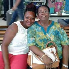 Margaret Lucas & Roselle Roches-Henry at Philip Goldson International Airport in Belize.