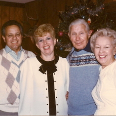 Ed, Marge, Ed sr. & Eleanore at Christmas