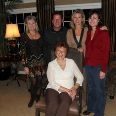 The Cameron family in-laws - Barb, Jay, Margaret, and Kelly, with Cathy Cameron