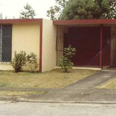 This is the house where we grew up in Caguas, Puerto Rico.