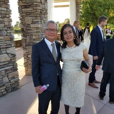 Mr. Siacs and Malou in 2017, Wedding of Trisha and Dustin