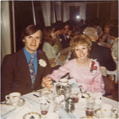 Marilyn James  and Sam Knight at an Aldersgate Bible College Graduation Banquet