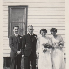New Dress Dear?  Her parents on a good day.  Kenneth and Lillian James along with attendants Lorraine and Donald.