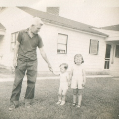 Marj - Age 4 - with Dad & Brother Jim