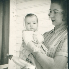 Marj - Age 4-5 Months - In Dorothy's Arms - 1945
