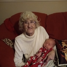 Nan with her great grandson Sonny xx