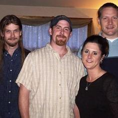 Mark with his brothers, Jarrett & Adam, and sister, Dawn