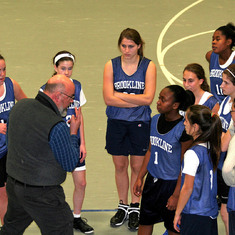Mark in action coaching Brookline basketball in 2006.
