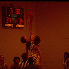 Mark looking for the jump ball 1976