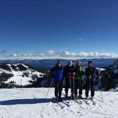 "A ""blue bird day"" at the top of the Sierras"