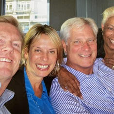 Smiles from good days together. With Scott Workman, Ana Elena Marziano and Stew Atkinson.