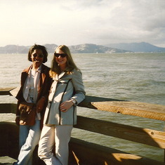 Rashell and Kristen at Pier 39 years ago...
