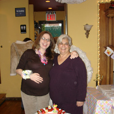 Mom and Peggy (pregnant with Thomas)