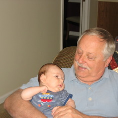 Dad with grandson Dylan 2006