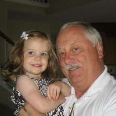 Dad with Hailey July 5, 2009