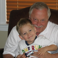 Dad with Dylan July 5, 2009