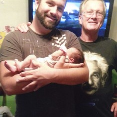 Dad and myself with new born Abigail (1 day old)