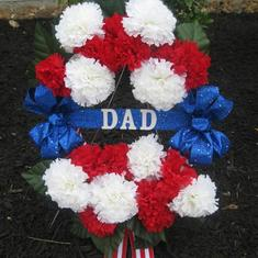 Memorial Day Wreath in Dad's honor