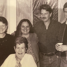 Mike, his mom, and his siblings