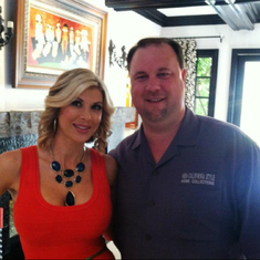 Mike and Alexis Bellino from Real Housewives of Orange County who was one of his clients...Mike loves all the Real Housewives :)