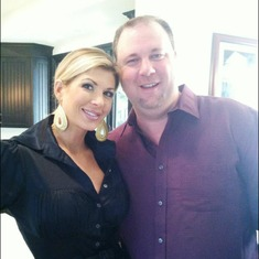 Mike and Alexis Bellino (Real Housewives of Orange County) after his design install at her home.