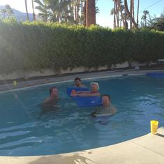 Palm Springs Pool time!  (Mike, Ralph, Roy, Dan)