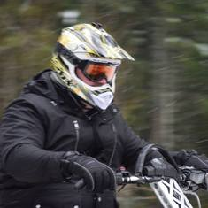 Snowmobiling at Whistler, BC