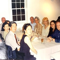 Med school graduation dinner 1994