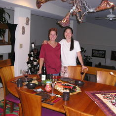 Mina and Deb at our Mitchell Road home