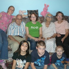 Me, granddad, stacy, grandma, mom, briana, cody and Ben