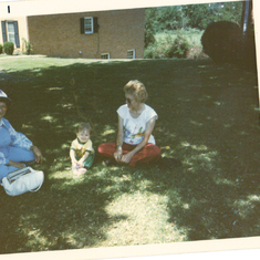 mom, Stacy and myself - I think we was waiting for Nina to come home from preschool