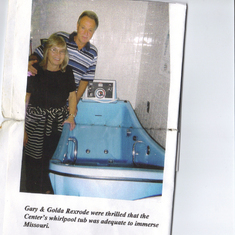 Gary and Goldie was thrilled that the center's whirlpool was adequate to immerse mom.