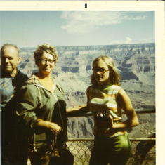 mom, dad and myself at the Grand Canyon-