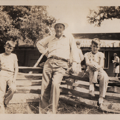 Loren Dempsey with his sons Myron and Derrel