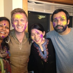 celebrating Holi at the Titus flats (Ithaca, NY)... 2013?