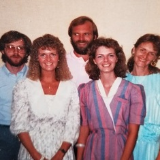 throwback photo of Nancy with her siblings: Jim, Dennis, Mary, and Wendy