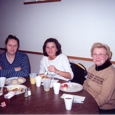 Nancy Huggins, Peggy Groth and Cassie Groth  Oct 2003