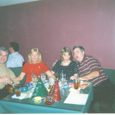 Nancy and Allen Huggins, Linda Ferency and friend New Years Eve 1999