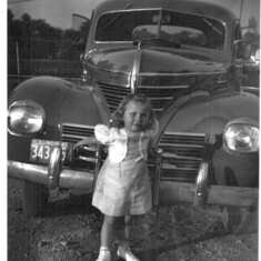 Little Nancy with a car of the day