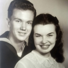 Don & Nancy Williams, August 6, 1950