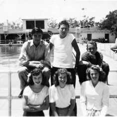 At Grant Union High School pool 1946