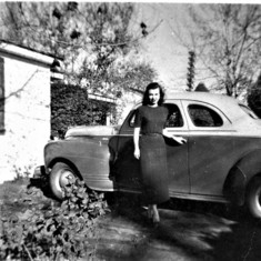 Nancy in front of her parents' house on North Avenue in Del Paso Heights, CA